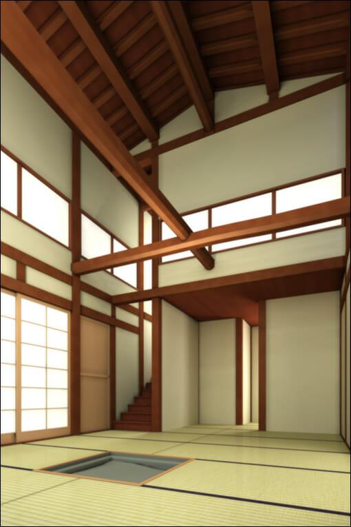 3D 和室 イメージ