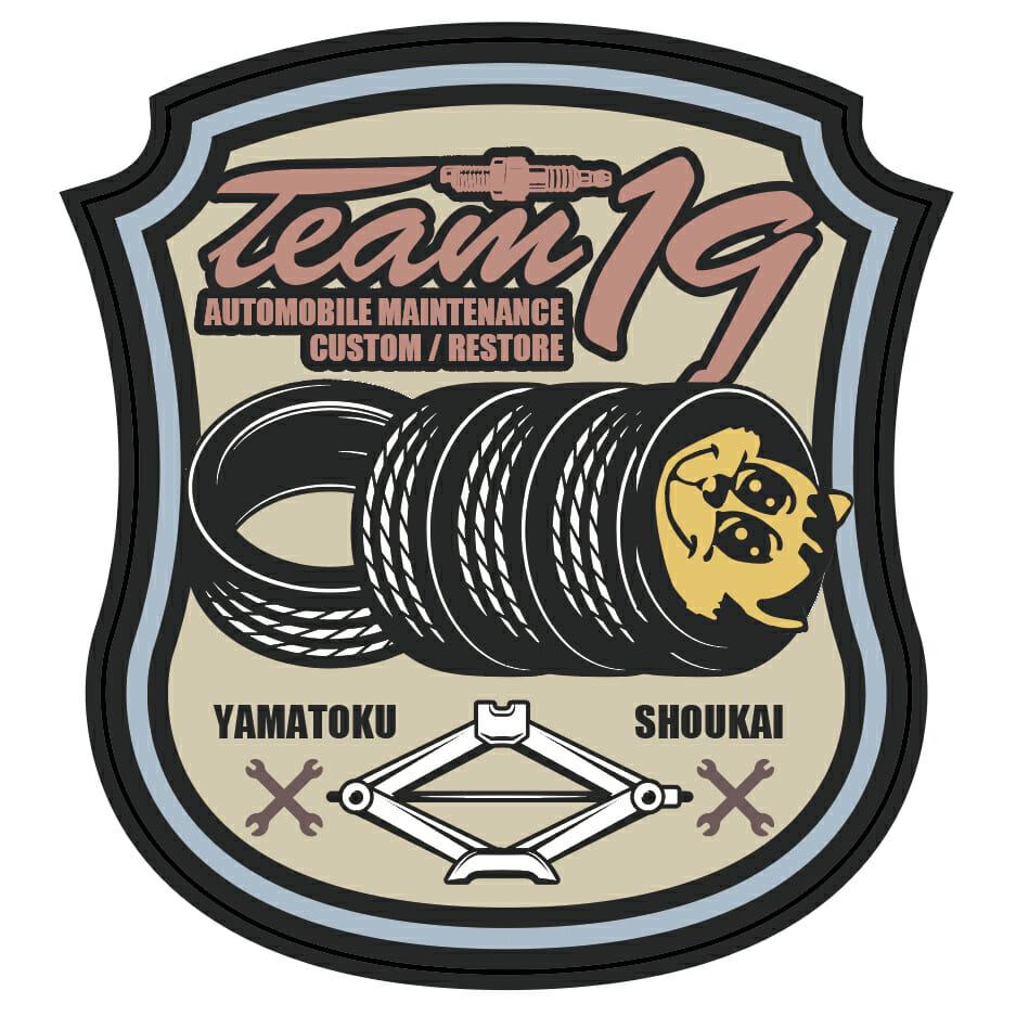 カスタムカーショップ・TEAM19・ロゴ制作